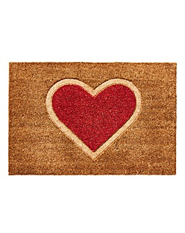 Heart Coir Door Mat