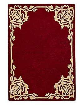 Rose Border Wool Rug Large