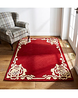 Rose Border Wool Rug