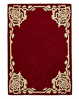 Rose Border Wool Rug Large