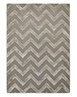 Luxury Chevron Wool & Viscose Rug