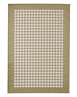 Gingham Check Rug Large
