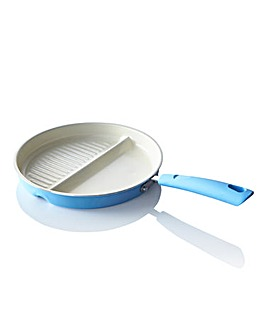Ceramic 2 in 1 Multifunctional Pan Blue