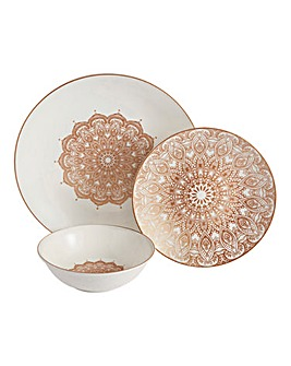 Boho Sands 12pc Dinnerset