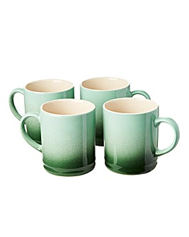 Graduated Tankard Mugs Pack of 4 Green