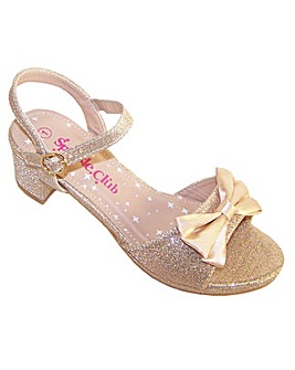Sparkle Club Gold Glitter Sandals