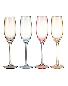 Lustre Flute Glasses Set of 4
