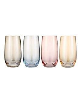 Colour Tint Highball Glasses Set of 4