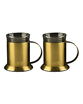 La Cafetiere - Set Of 2 Glass Cups
