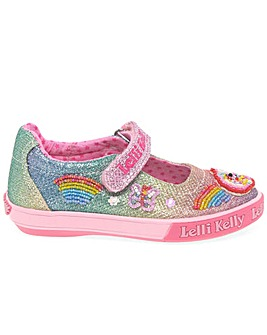 Lelli Kelly Rainbow Sparkle Dolly Shoes