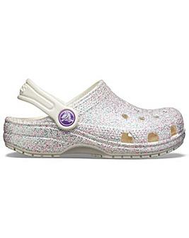 Crocs Kids Classic Glitter Clog Slip On