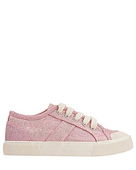 Monsoon Maggie Shimmer Lace Up Trainer