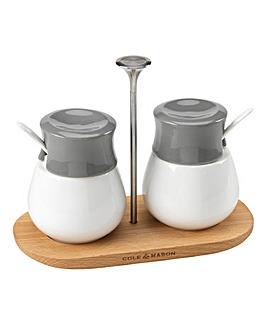 Cole & Mason Condiment Pots And Board
