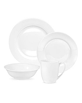 Serendipity China 16pc Dinnerset White