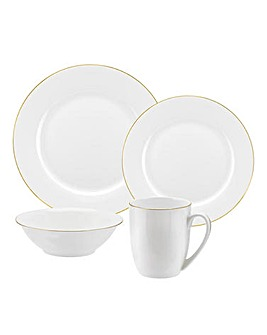 Serendipity China 16pc Dinnerset Gold