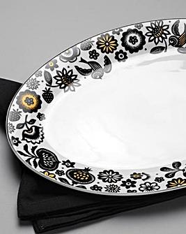 Portmeirion Modern Folk Oval Platter