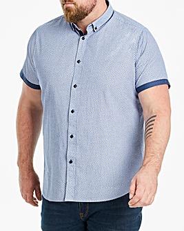Blue S/S Polka Texture Shirt R