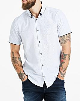 White S/S Geo Shirt L