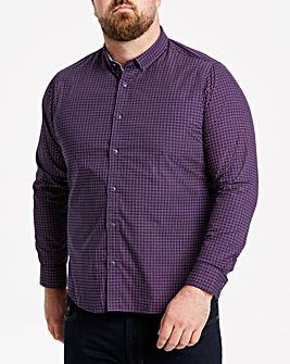 Navy L/S Geo Print Shirt