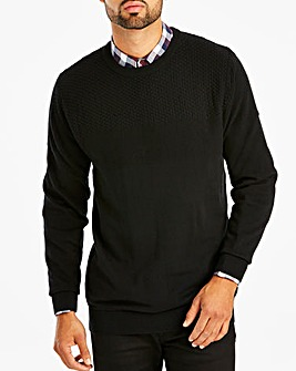 Black Panel Knit Jumper R