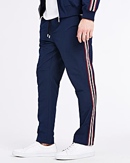 Navy Side Tapered Trousers 31 in