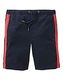 Navy Side Panel Chino Shorts
