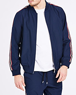 Navy Tape Sleeve Bomber L