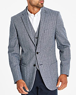 Jacamo Blue Tweed Blazer L
