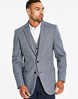 Jacamo Blue Tweed Blazer R