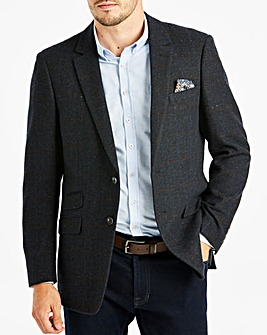 Blue Check Herringbone Blazer