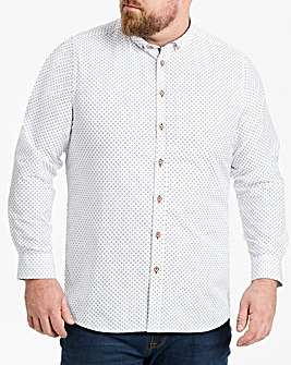 White L/S Printed Shirt Regular