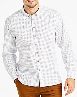 White L/S Printed Shirt L