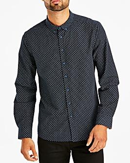 Navy L/S Printed Shirt L