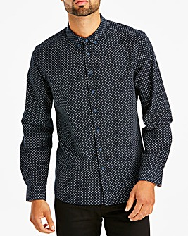 Black Label Navy L/S Printed Shirt L