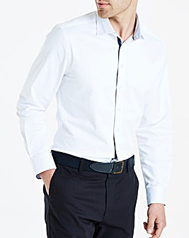 White L/S Stretch Pintuck Shirt Regular