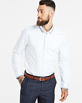 White L/S Stretch Slim Smart Shirt L