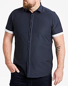 Navy Slim S/S Shirt R