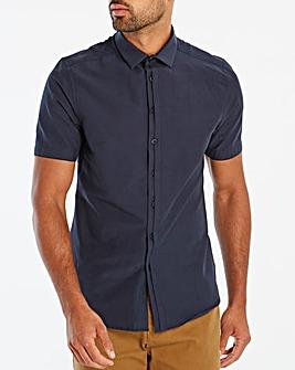 Black Label Navy Slim S/S Shirt R
