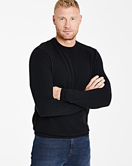 Flintoff By Jacamo Black Cashmere Knit R