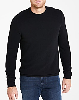 Flintoff By Jacamo Black Cashmere Knit L