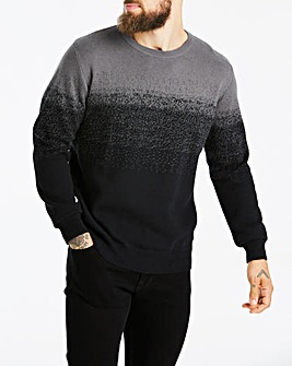 Black/Grey Ombre Knit L