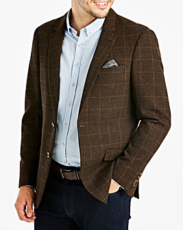 Jacamo Check Tweed Blazer L