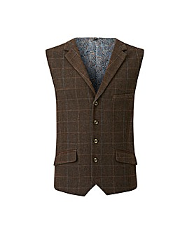 Black Label Check Tweed Waistcoat L