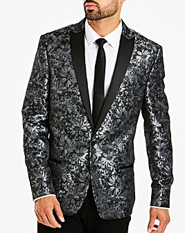 Jacamo Grey Slim Party Blazer L