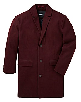 Black Label Burgundy Mix Crombie Coat R