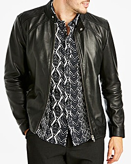 Black Label Smart Leather Jacket L
