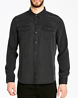 Jacamo Premium Tencel Western Shirt Long