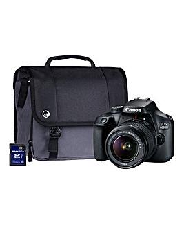 Canon 4000D SLR Kit inc Lens, SD, Case