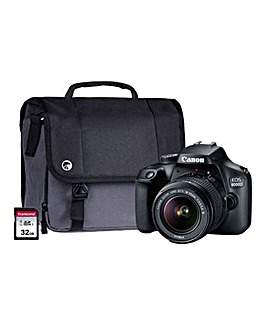 Canon 4000D SLR Kit inc Lens, SD, Case