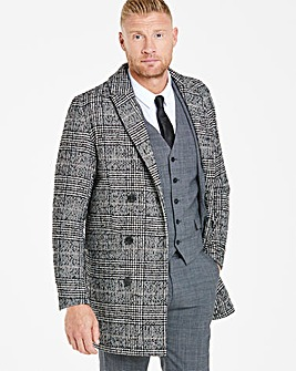 Flintoff By Jacamo Wool Check Coat R